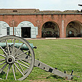 Fort Pulaski Cannon And Gun by Bruce Gourley