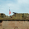 Fort Pulaski Flag And Cannons by Bruce Gourley