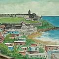 Fort San Felipe Del Morro From Fort San Cristobal Pr by Frank Hunter