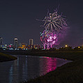 Fort Worth Fourth Of July Fireworks by Jonathan Davison