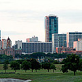Fort Worth Skyline Morning by Rospotte Photography