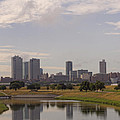 Fort Worth Skyline Partly Cloudy by Jonathan Davison