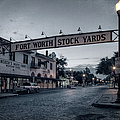 Fort Worth Stockyards Bw by Joan Carroll