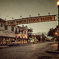 Fort Worth Stockyards by Joan Carroll