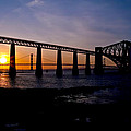 Forth Bridges Sunset by Ross G Strachan