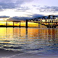 Forth Rail Bridge At Sunset by The Creative Minds Art and Photography