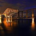 Forth Rail Bridge At Sunset by Marcia Colelli