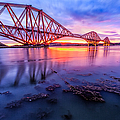 Forth Rail Bridge Stunning Sunrise by John Farnan