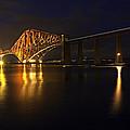 Forth Rail Bridge With Train by Marcia Colelli