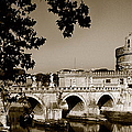 Fortress And Bridge In Sepia by Weston Westmoreland