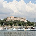 Fortress And Harbor - Cote D'azur by Christiane Schulze Art And Photography