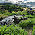 Fossa Waterfall In Hvalfjordur, Iceland by Panoramic Images