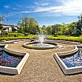 Fountain And Park In Zagreb by Brch Photography