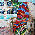 Fountain And Serape by Kandyce Waltensperger