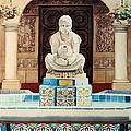 Fountain At Cafe Del Rey Moro by Mary Helmreich