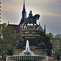 Fountain At Eakins Oval by Trish Tritz