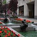 Fountain At Rockefeller Center Nyc by Christiane Schulze Art And Photography