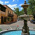Fountain At Tlaquepaque Arts And Crafts Village Sedona Arizona by Amy Cicconi