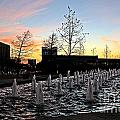 Fountain At Trinity River Campus 1566m by Earl Johnson