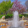 Fountain In Coolidge Park by Tom and Pat Cory