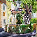 Fountain In Provence by Christian Simonian