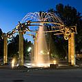 Fountain In Riverfront Park by Paul DeRocker