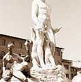 Fountain Of Neptune Florence by Tom Wurl