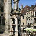 Fountain On The Market Place Autun by Christiane Schulze Art And Photography