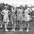 Four Bathing Suit Models by Underwood Archives