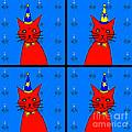 Four Cats by Barbara Moignard