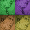 Four Colours Of Obama by Collin A Clarke