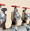 Four Emergency Water Valves by Trever Miller