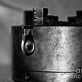 Four Jaw Chuck Black And White by Wilma  Birdwell