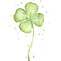 Four Leaf Clover Lucky Charm by Olga Shvartsur