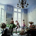 Four Models Inside Christian Lacroix's Studio by Arthur Elgort