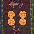 Four Of Pentacles by Sushila Burgess
