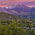 Four Peaks Sunset Panorama by Dave Dilli