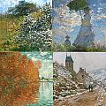 Four Seasons A Collage Of Monets by Philip Ralley