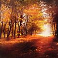 Four Seasons Autumn Impressions At Dawn by Georgiana Romanovna