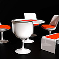 Four Tulip Chairs by Jan Brons