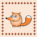 Fox - Animals - Art For Kids by Anastasiya Malakhova