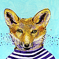 Fox In The Striped T-shirt by Lucia Lukacova