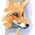 Foxy by Karen  Loughridge KLArt