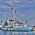 Shrimp Boat At Port by Benanne Stiens