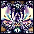 Fractal 26 Jeweled Tone Lotus Flower by Rose Santuci-Sofranko
