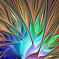 Fractal Bird Of Paradise by Peggi Wolfe