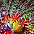 Fractal Bird Of Paradise Redux by Peggi Wolfe