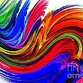Fractal Colors On White by Maurisca Sardju