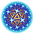 Fractal Escheresque Winter Mandala 10 by Hakon Soreide