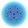 Fractal Escher Winter Mandala 5 by Hakon Soreide